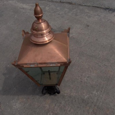 lampost tops in solid copper