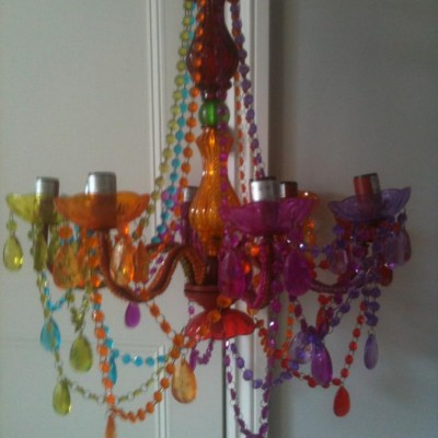Perspex Multi coloured Chandeliere