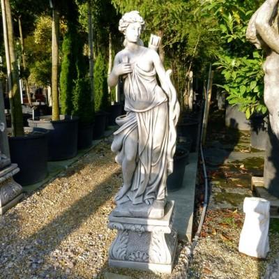 Huntress Statue on Pedestal