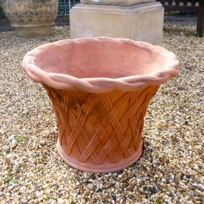 Rope Top Weave Basket Urns