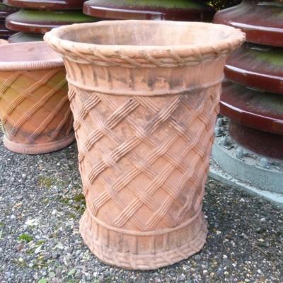 Tall  Basket Weave Pots