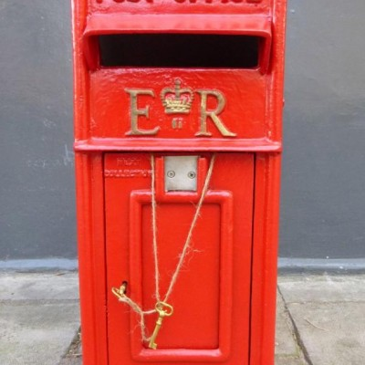 Vintage Style Post Office Red Post Box