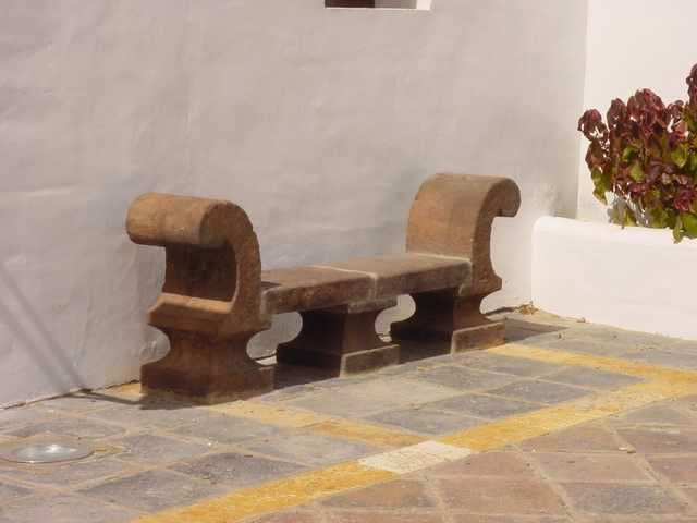 Antique looking manufacture stone bench