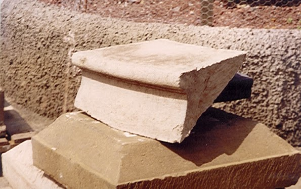 Antique looking stone step