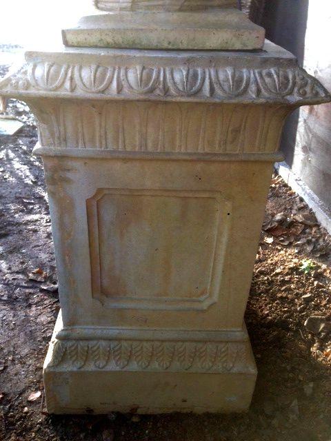 Stone Bagatelle Urns on Doulton Plinths