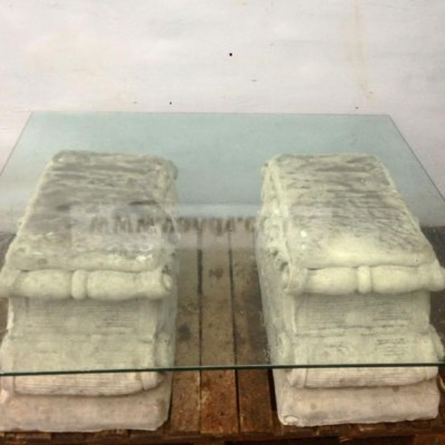 Decorative Antique Style Reconstituted Stone Table Base