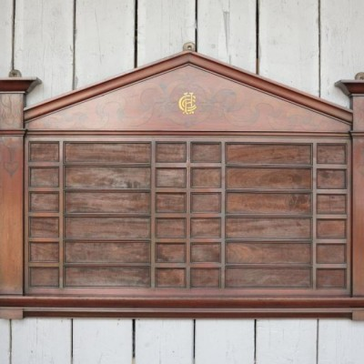 Antique Art Nouveau Mahogany Church Hymn Board