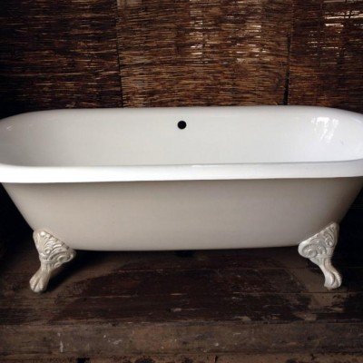 A Stunning White Cast Iron Bath