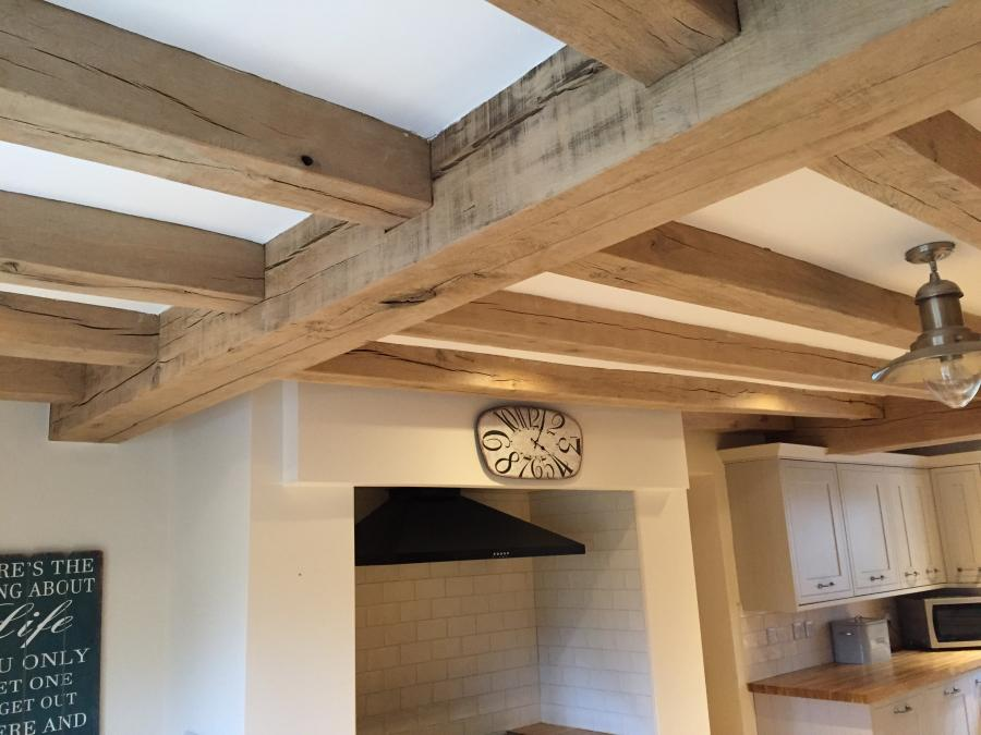 Air Dried Oak Beams To Clear