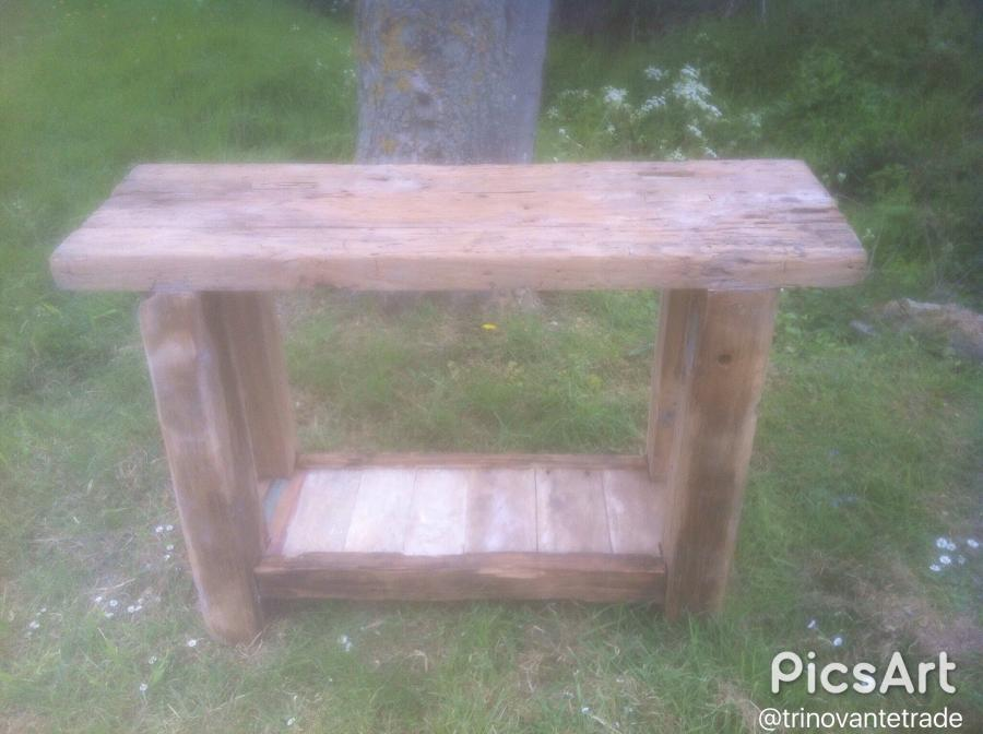 Teak rustic table.