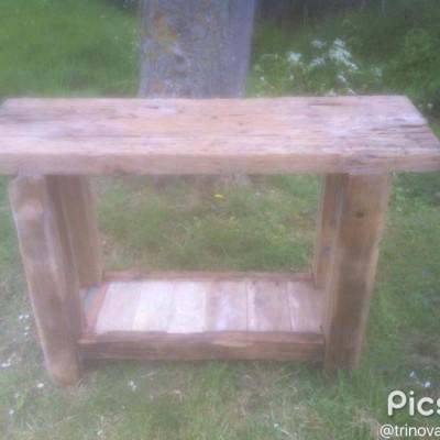 Teak rustic table.