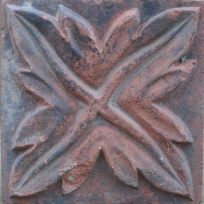 antique Decorative terracotta bricks - leaf spiral