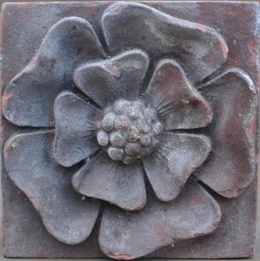 antique Decorative terracotta bricks - leaf, rose