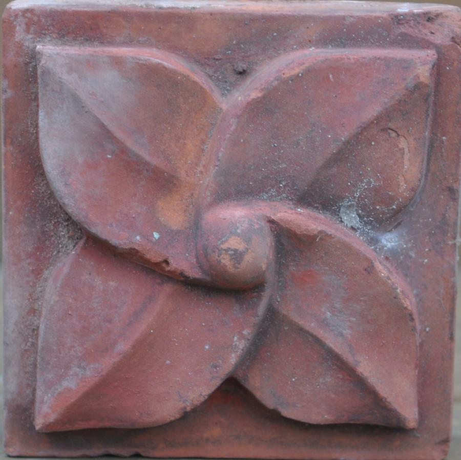 antique Decorative terracotta bricks -nippled leafmill