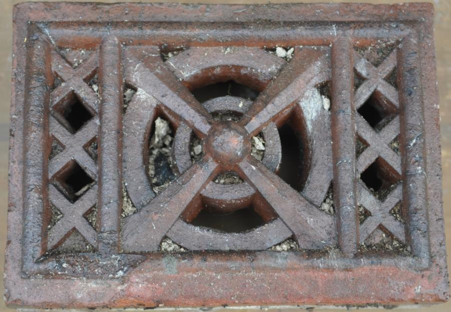 antique Decorative terracotta bricks -single vent