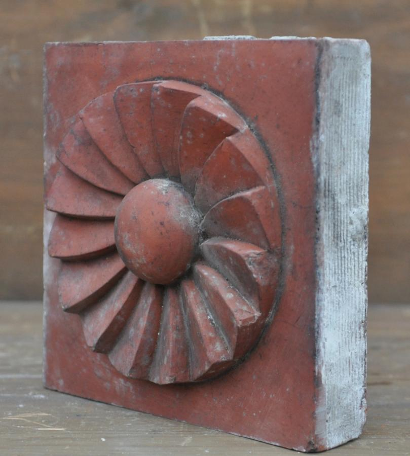 antique Decorative terracotta bricks - various singles