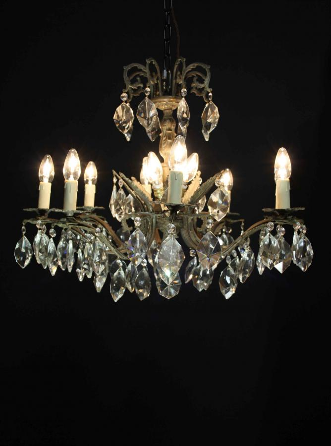 An early 20th C. eight branch French chandelier