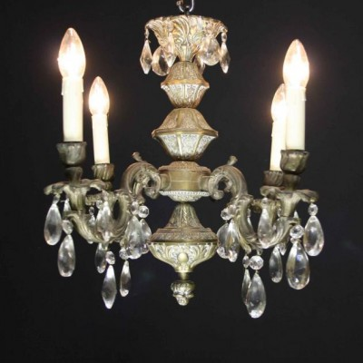 An early 20th C. four branch French Chandelier