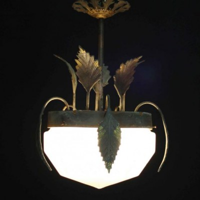 An early 20th C. French hall light
