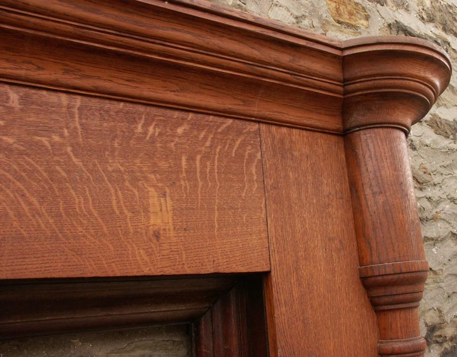 large columned oak surround - scottish