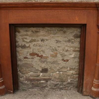 large columned oak surround - scottish
