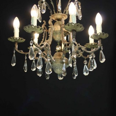 An early 20th C. seven branch French chandelier
