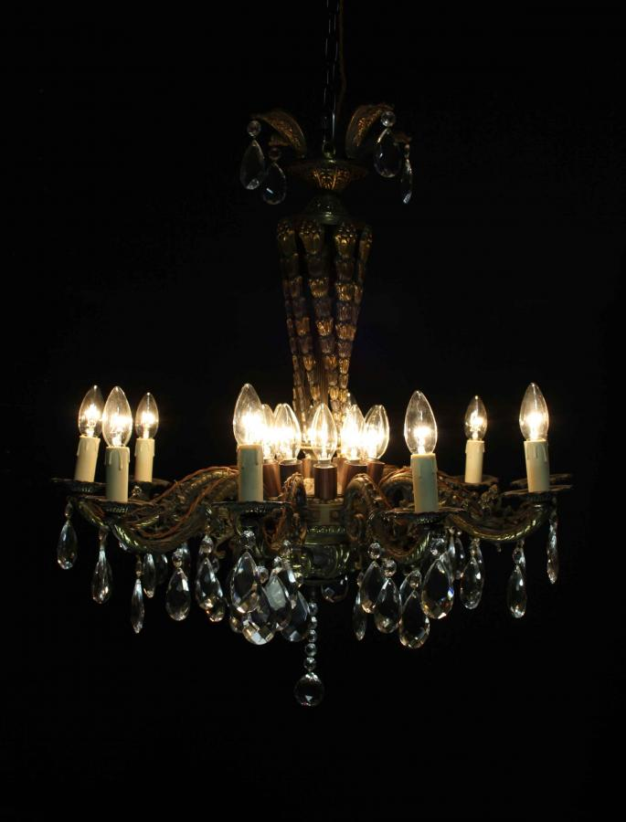 An early 20th C. ten branch French chandelier