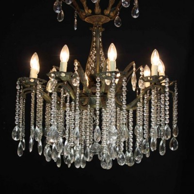 An early 20th C. French ten branch Chandelier
