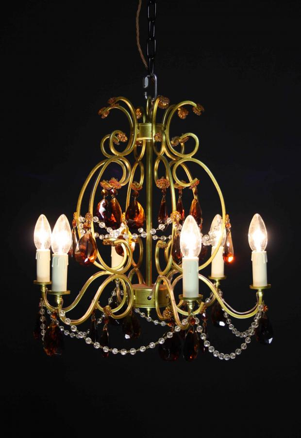A mid-20th C. six branch French chandelier