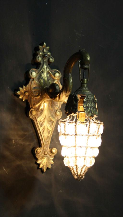 A set of four early 20th C. wall lights
