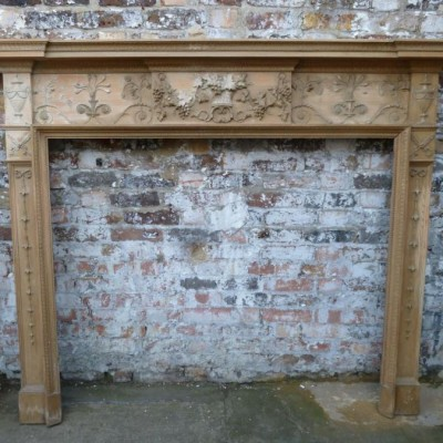 Antique Georgian Pine Fireplace Surround