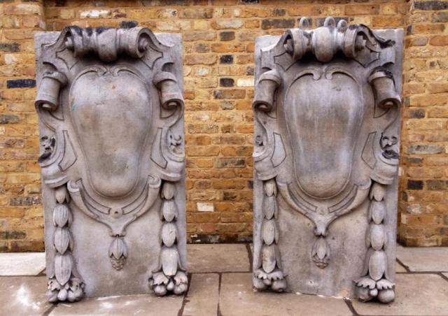 Antique portland stone cartouches
