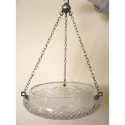 large cut glass edwardian shade
