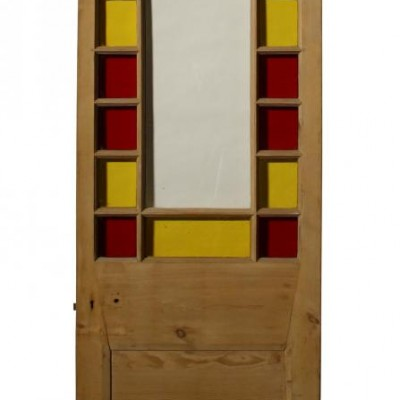 A 1930s stained glass door