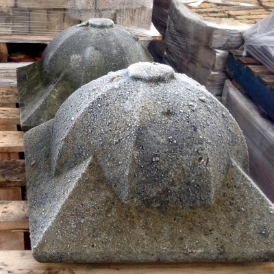 Reclaimed Large Stone Pier Caps