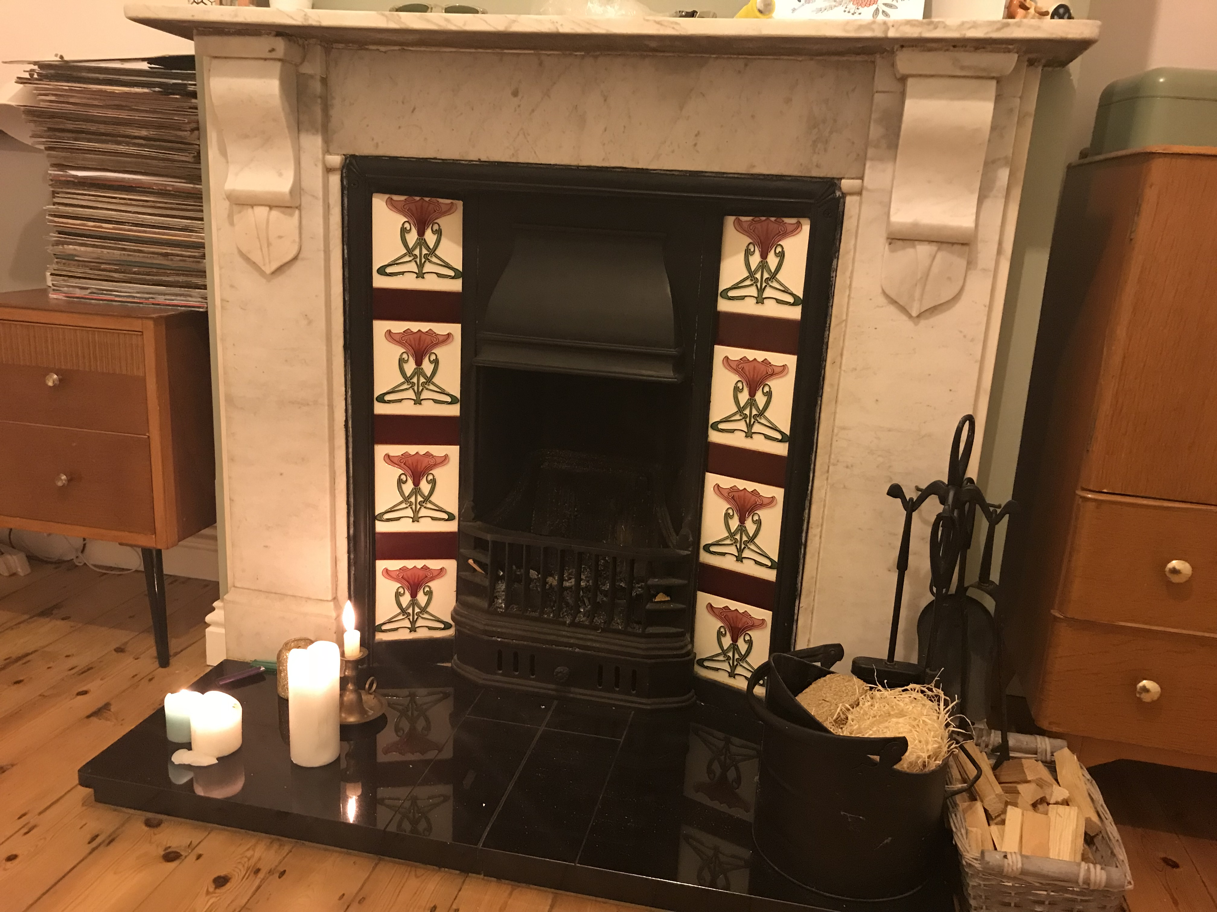 set thorn fireplace tile antique tiles at victorian htm