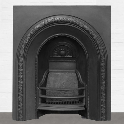 Victorian Cast Iron Fire Insert