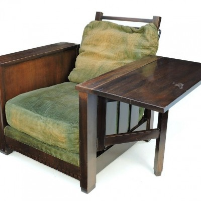 1930s Heal & Son, Library Book Chair in walnut deco arts and crafts