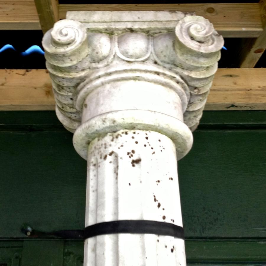 Reclaimed Marble Ionic Columns
