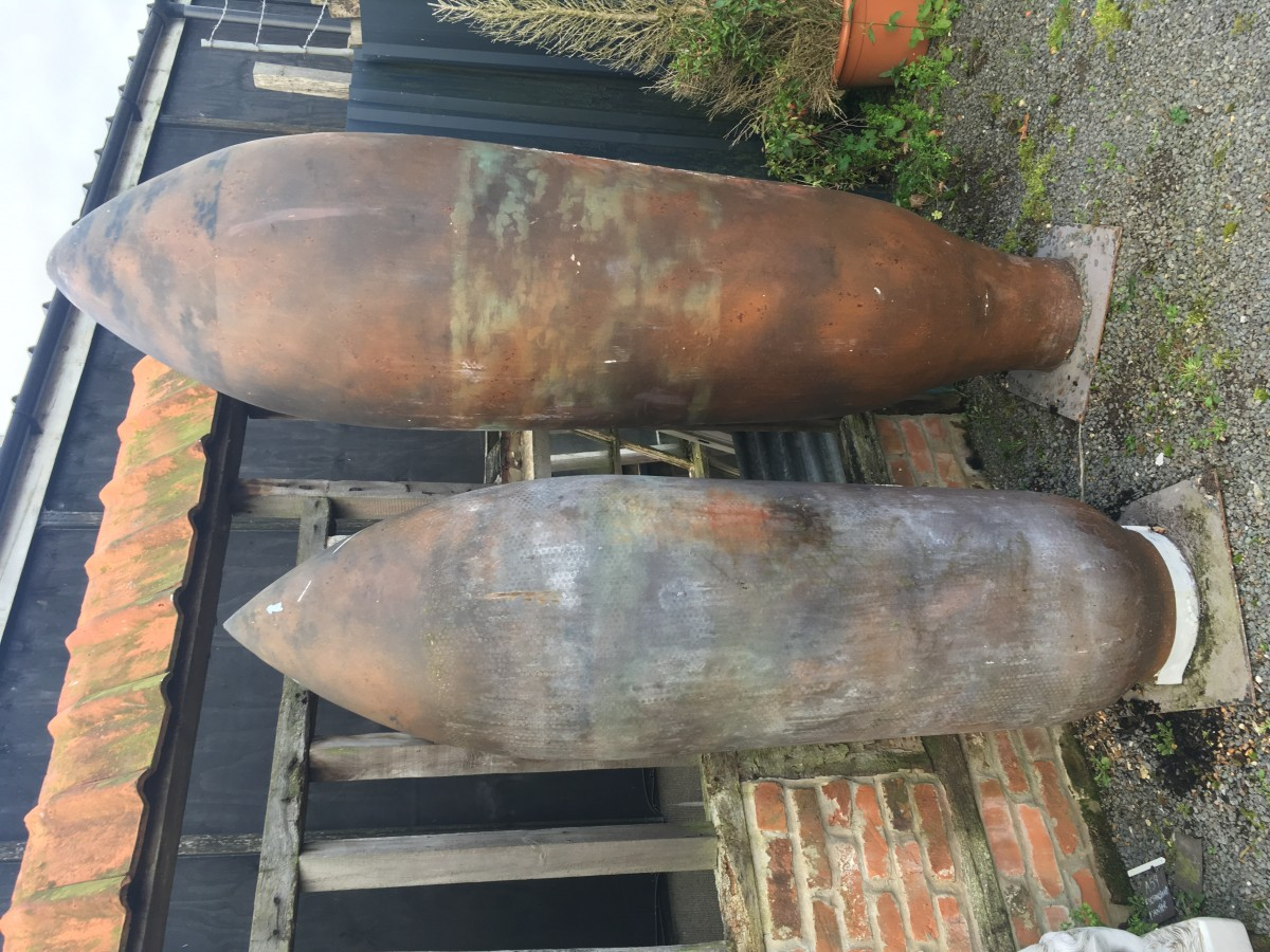 Replica WW1 bombs