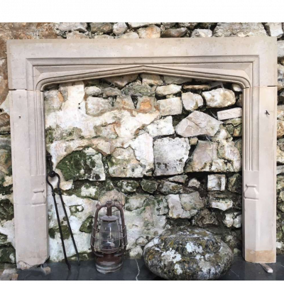Antique English Stone Fireplace