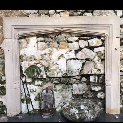 Antique English Stone Fireplace