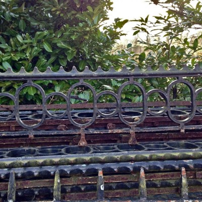 Antique Iron Wall Railings