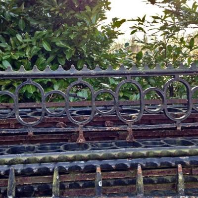 Antique Iron Wall Railings