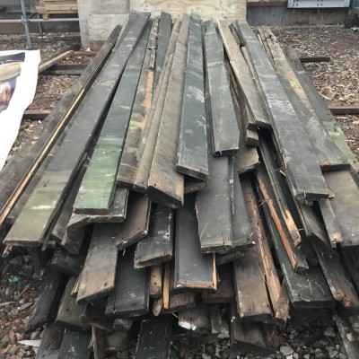 Timber pitch pine roof boards.