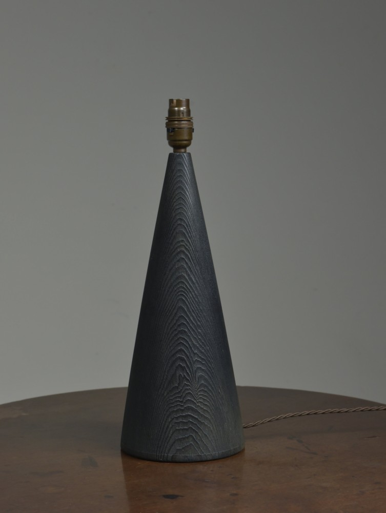 Vintage conical wooden table lamp by Skjode, Denmark
