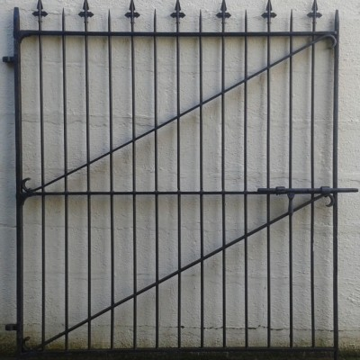 Large Victorian wrought iron pedestrian gate.