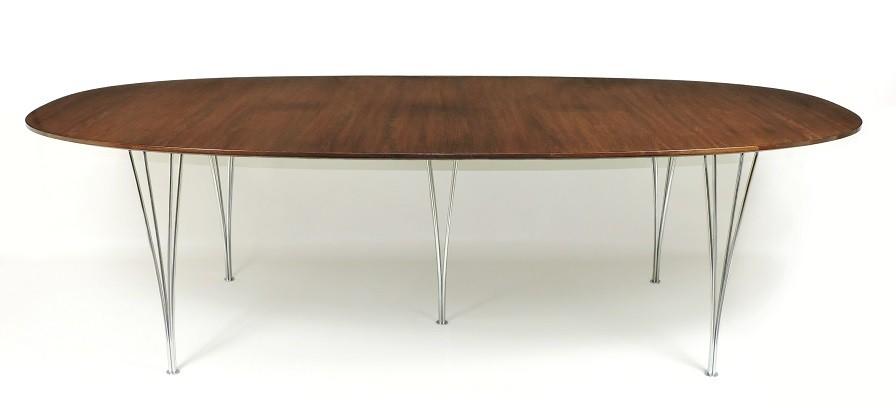 """Super-Ellipse """"Rosewood"""" Table by Piet Hein (Bruno Mathsson) Fritz Hansen Denmark"""