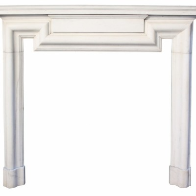 Early 19th C. Statuary Marble Chimneypiece