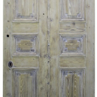 Early 19th Century Stripped Pine Front Door